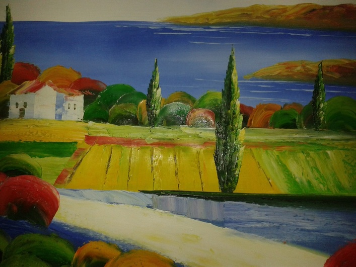 Sicily art sicilian arts shells collection paintings for Craft fairs in ct december